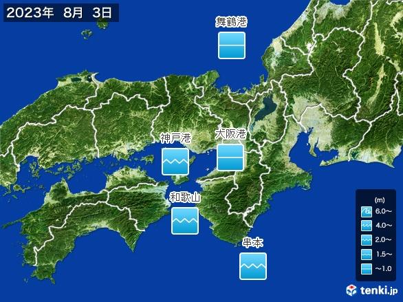 近畿地方の海の天気