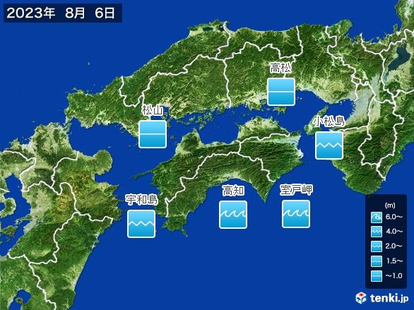 四国地方の海の天気