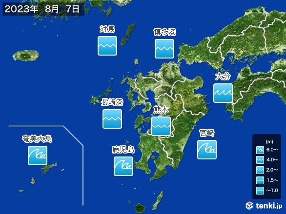 九州地方の海の天気